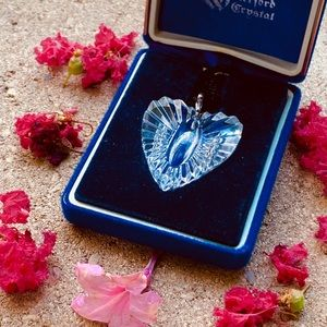 Vintage Waterford Crystal Heart Pendant Necklace